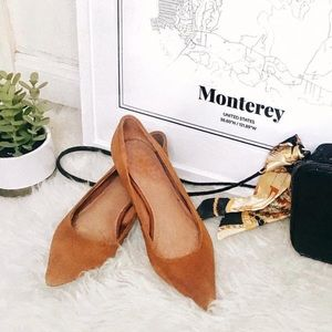Vintage Leather Suede Kitten Heels